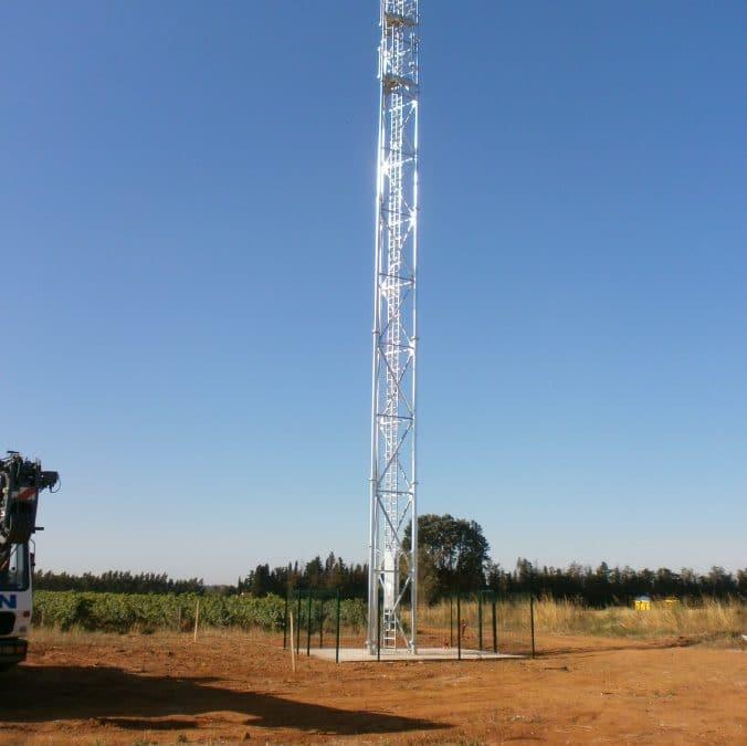 Vue aérienne de nos pylônes treillis